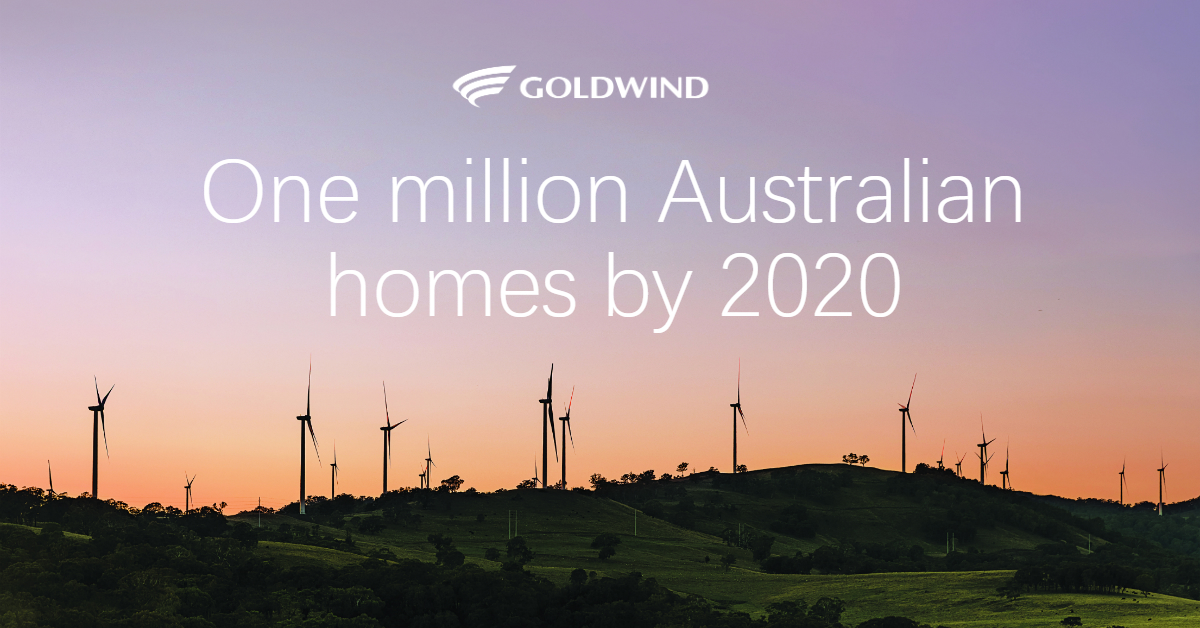 Goldwind Australia Launches One Million Homes Campaign