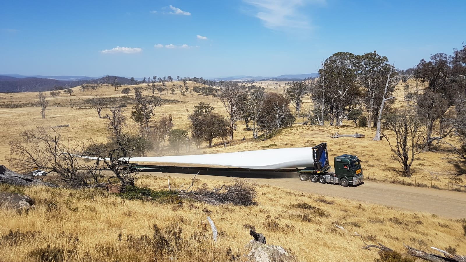 First Goldwind blade travelling to CHWF 01032019 2